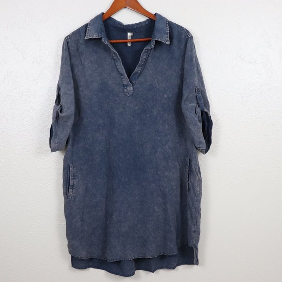 Mittoshop | Distressed Pocket Shift Dress